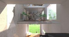 Portfolio: Villa Kubuseiland | Global Architects BNA. In villa Kubuseiland staat de balans tussen de culturele behoefte van de bewoners en een gezonde natuurlijke leefomgeving centraal. Het gebruik van de woning speelt in op de veranderende leefcultuur van de bewoners. De woning is flexibel van opzet en ruimtes kunnen makkelijk anders ingedeeld worden.