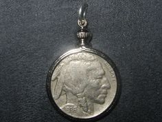 AUTHENTIC SOUTHWEST BEZEL SET 1930's BUFFALO NICKEL PENDANT COIN CHARM NECKLACE…