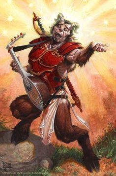 """Andronus"" by Ralph Horsley | Dungeons & Dragons | #Fantasy #Satyr #Fauno"