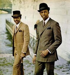 Old school fashion. Classy suits