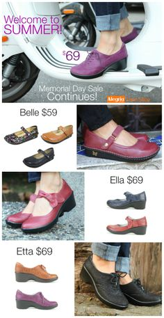 The Alegria Shoes Memorial Day Clearance Sale Continues! | Alegria Shoe Shop #AlegriaShoes #Closeouts #Sale
