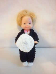 Boo Bear's Crochet Barbie Wedding - Ring Bearer