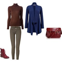 Deep Summer - navy, khaki, dark red by adriana-cizikova on Polyvore featuring John Lewis, Roberto Collina and 7 For All Mankind