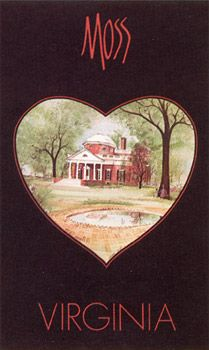 Virginia is for lovers. Painting by P. Buckley Moss
