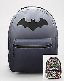 1e5272a2aee7 Reversible Batman Backpack - DC Comics Dc Universe