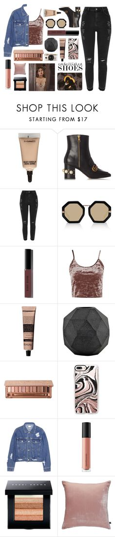 """Embellished"" by tacoxcat ❤ liked on Polyvore featuring MAC Cosmetics, Gucci, River Island, Karen Walker, Bobbi Brown Cosmetics, Topshop, Aesop, House Doctor, Urban Decay and Urban Outfitters"