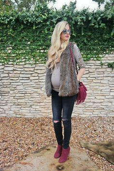 Fall Ready With Pink Blush Maternity —