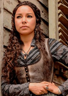 Max in Starz' Black Sails series...in a steampunk-inspired dress