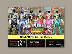 Power Rangers Dino Charge the beautiful by Castlepicture on Etsy