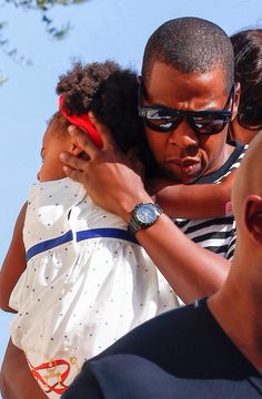 Jayz & Blue Ivy at Picasso Museum in Antibes,France Sept. 9th,2014
