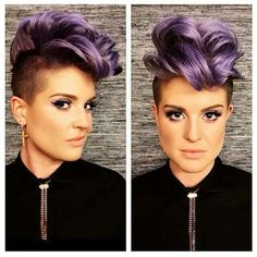 Pravana colour on Kelly Osbourne with a faux hawk do. Wowwwwww