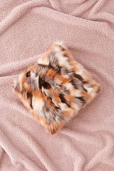 Slide View: 1: Mixed Faux Fur Throw Pillow