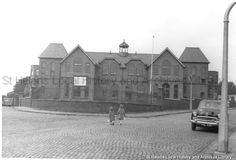 MSE/2/5/7 Black and white photograph showing the exterior of St Mary's Mission Church School, Keswick Road, St.Helens. c.1960. . . . . .