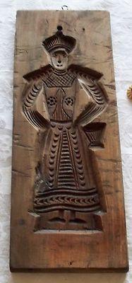 Vtg Wood SPRINGERLE Speculaas Primitive Board Cookie Mold Press Dutch Heren Man | eBay