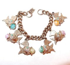 Fish Charm Bracelet with Beaded Mouth Full