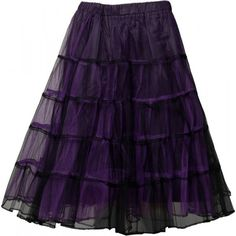 Countesse Nightshade - mid-length gothic mesh skirt by Raven SDL ($57) ❤ liked on Polyvore featuring skirts, purple skirt, gothic lolita skirts, goth skirt, mesh skirt and mid length skirts