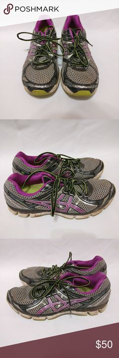 Asics Gt-2000 Women's Athletic Running Shoes 13 CONDITION :       8/10 Condition.    TAG SIZE: 13   Color - Purple Gray Silver Black Asics Shoes Athletic Shoes