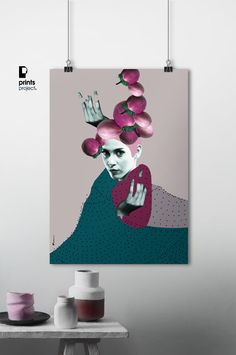 Woman Portrait Collage Wall Art Poster Download by PrintsProject