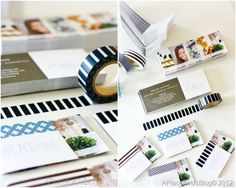 Washi Tape Business Cards; for more inspiration and washi projects visit thewashiblog.com | #washi #washitape
