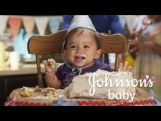 Johnson & Johnson TV commercial- 'Your doing ok, Mum' commercial depicts the social expectations of what a mother should do. Raises the conversation of what are the social expectations of a mother that are presented in the commercial? Baby Cake Smash, Smash Cakes, First Birthday Cakes, 1st Birthday Parties, Royal Babies, Baby Royal, Panda Party, Google Facebook, Facebook Youtube