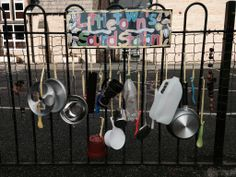 Created a outdoor sound station using different materials for phase 1 phonics practise. The children contributed their own materials from home which were all attached with ribbon. They have loved making a lot of noise and developing their listening skills in the meantime.