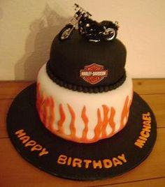 wwwfacebookcomDotsJustAddFrostin Harley Davidson cake with boobie