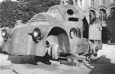 "Škoda ""Tortoise"", 1923 - Retronaut Seat Cupra, Vw Group, Cool Tanks, Military Weapons, Picts, Weird And Wonderful, Armored Vehicles, War Machine, Military History"