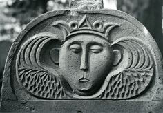 Soul effigy, Submit Gaylord stone, 1766, Hadley, MA - photo from the Tenney collection