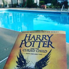 My goal for today is complete....sat by the pool and read my new book....great use of vacation time. Loved the book. #vacationtime #harrypotter #goals