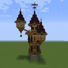 Vintage Victorian Mansion 3 - GrabCraft - Your number one source for MineCraft buildings, blueprints, tips, ideas, floorplans! Minecraft Tower, Cute Minecraft Houses, Cool Minecraft, Minecraft Crafts, Minecraft Designs, Minecraft Buildings, Minecraft Building Blueprints, Minecraft Plans, Minecraft Tutorial