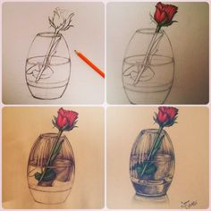 Drawing a rose .. By Ioana Cotuna