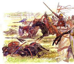"""Frankish cavalry drive away Seljuk relief forces outside Antioch on Frebuary 9, 1098"""", Igor Dzis"