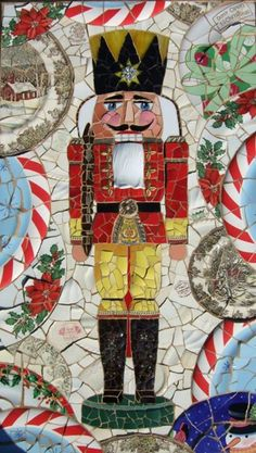 Mosaic Nutcracker | #christmas #xmas #holiday #decorating #decor