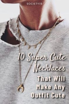 10 Super Cute Necklaces That Make Any Outfit Cute Chocker Necklace, Teardrop Necklace, Cute Necklace, Name Choker, Layered Chokers, Black Ripped Jeans, Dramatic Look, Cute Blouses, Street Style Trends