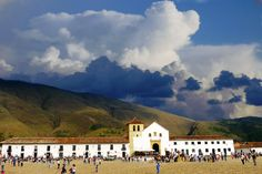 Plaza Mayor in Villa De Leyva, Colombia Backpacking South America, South America Travel, Travel Planner, Trip Planner, South America Destinations, Places Ive Been, Places To Visit, Clouds, Sky