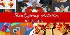 The best Thanksgiving Crafts for Toddlers. We've found some great activities that your toddler can do to get into the Thanksgiving spirit!