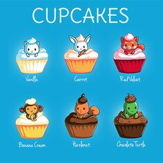Cupcakes! - This t-shirt is only available at TeeTurtle! Exclusive graphic designs on super soft 100% cotton tees.