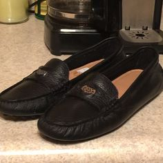 Coach shoes size 6 Coach shoes size 6, brand new, only worn around the house once. Price is negotiable! Coach Shoes Flats & Loafers