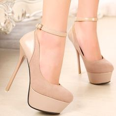 Glamorous Apricot Colored Platform Fashion Pumps on Luulla Blue High Heels, Silver High Heels, Green Heels, Beige Heels, Nude Pumps, Zapatos Shoes, Shoes Heels, Dress Shoes, Cute Shoes