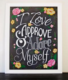 Chalkboard PRINT I Love Approve and Adore by ColorandDustStudios