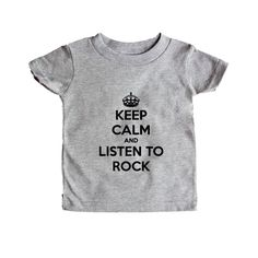 Keep Calm And Listen To Rock Music Musical Instrument Instruments Bands Band Musician Party Partying Parties SGAL5 Baby Onesie / Tee
