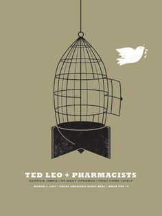 love the rocket shaped birdcage. poster by jason munn.
