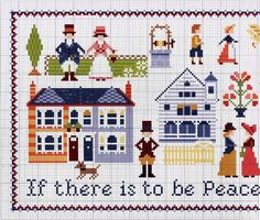 """Samplers by Anna Fields, """"If there is to be peace in the home, there must be peace in the heart."""" 