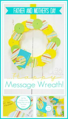 Make a cute message wreath with sweet thoughts and sercive acts. Such a cute idea for Father's Day!