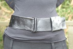 circle cutout belt - black Leather Accessories, Leather Bag, Leather Bag Men, Leather Products, Leather Bags