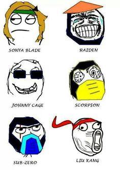 sums it up. Mortal Kombat Memes, Mortal Kombat Art, Video Games Funny, Funny Games, Marvel Funny, Funny Comics, Street Fighter Tekken, Videogames, Johnny Cage