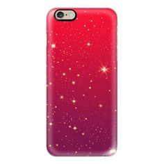 Sparkly Red Christmas Starry Night - iPhone 6s Case,iPhone 6... ($40) ❤ liked on Polyvore featuring accessories, tech accessories, phone case, iphone case, iphone cases, slim iphone case, iphone cover case, apple iphone cases and sparkly iphone cases