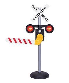 Motion-Activated Talking Railroad Crossing by Pavlov'z Toyz #zulily #zulilyfinds