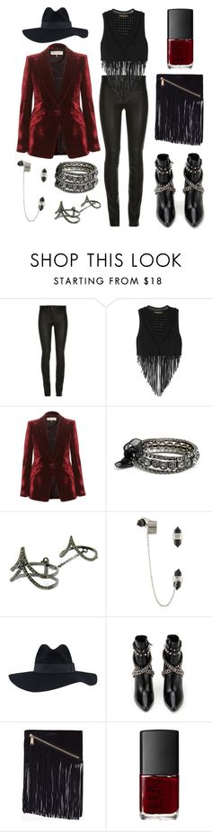 """Accessorize with Jewel Cult - Fringe Benefits"" by jewelcult ❤ liked on Polyvore featuring Roberto Cavalli, Emilio Pucci, By Malene Birger, Yves Saint Laurent, Dsquared2, NARS Cosmetics, fringe and glam"