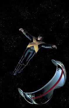 Astonishing X-Men - Cyclops by John Cassaday Comic Book Artists, Comic Book Characters, Marvel Characters, Comic Character, Comic Books Art, Marvel Comics Art, Marvel Dc Comics, Marvel Heroes, X Men 1